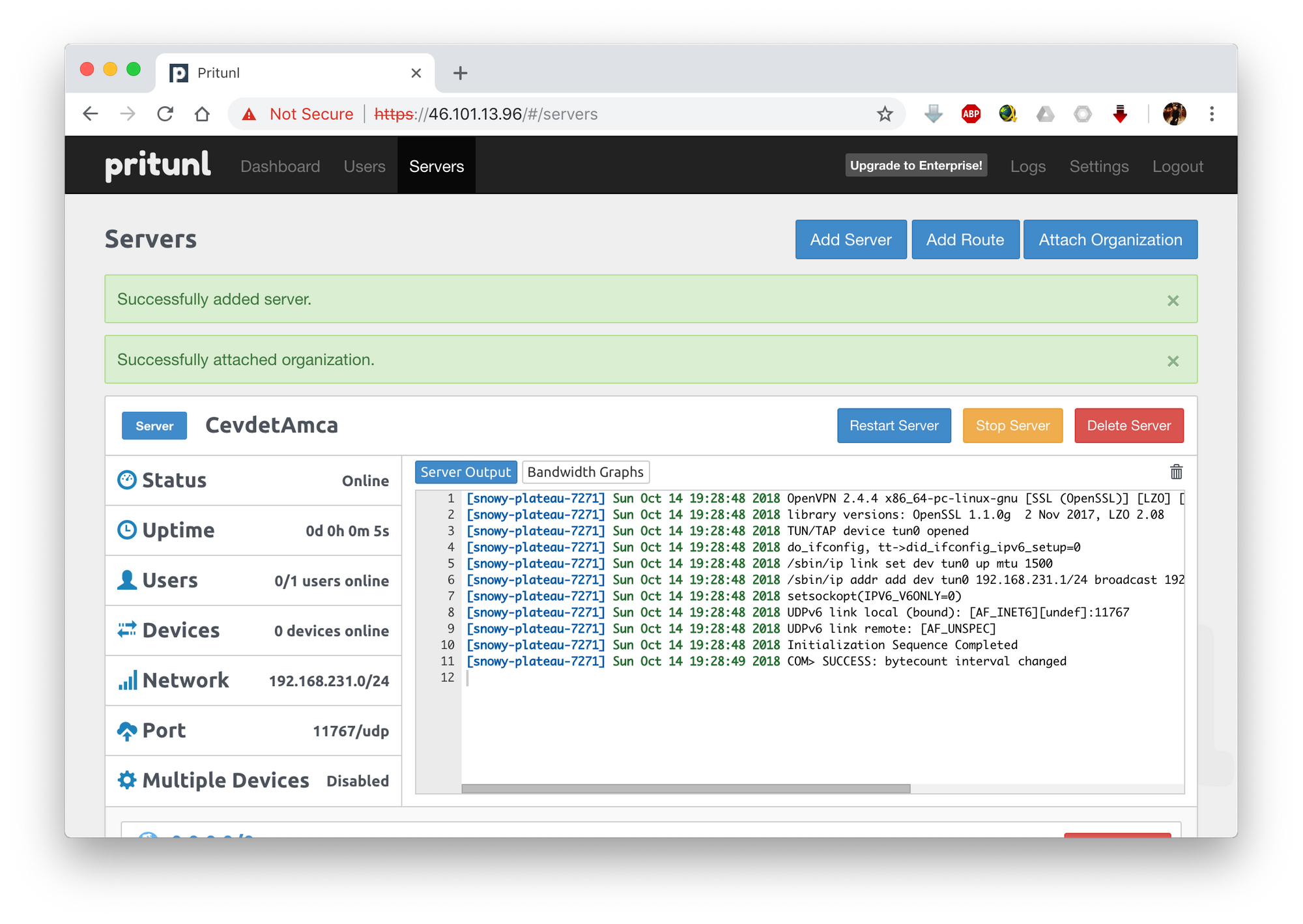 Setup a VPN Server with Pritunl on Ubuntu 18 04